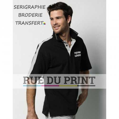 Polo publicité Sporting 210 g/m² 100% coton large bande contrastée sur les épaules