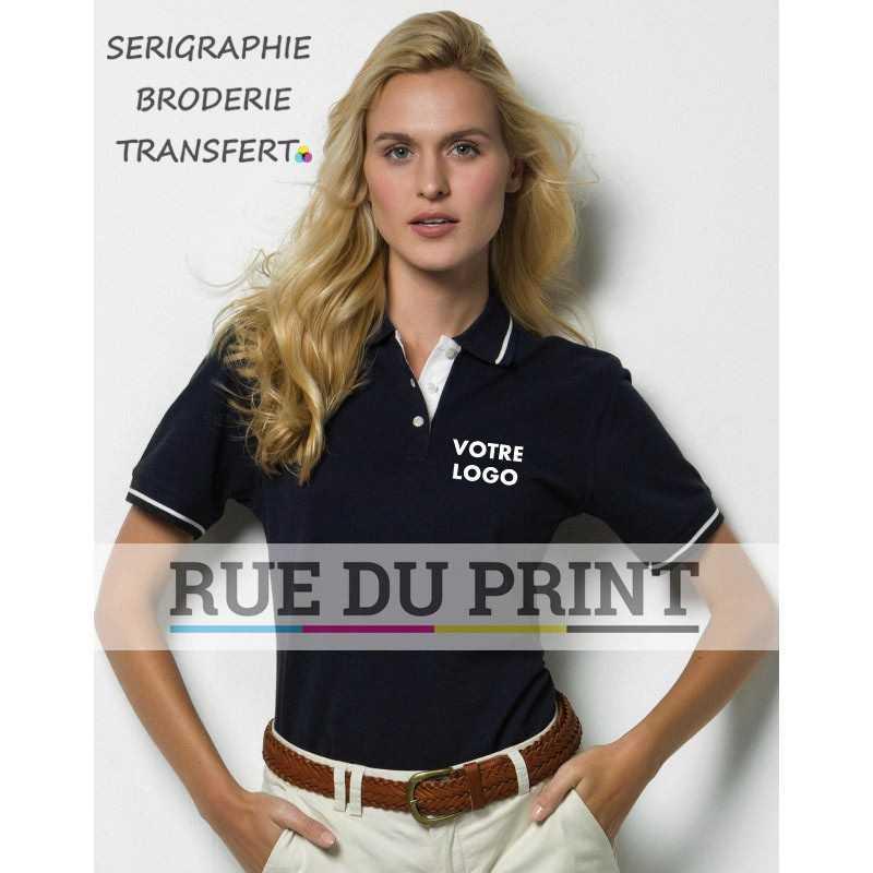 Chemise publicité polo St. Mellion 210 g/m² 100% coton peigné piqué col et bords des manches avec bord côtelé et bord des manc