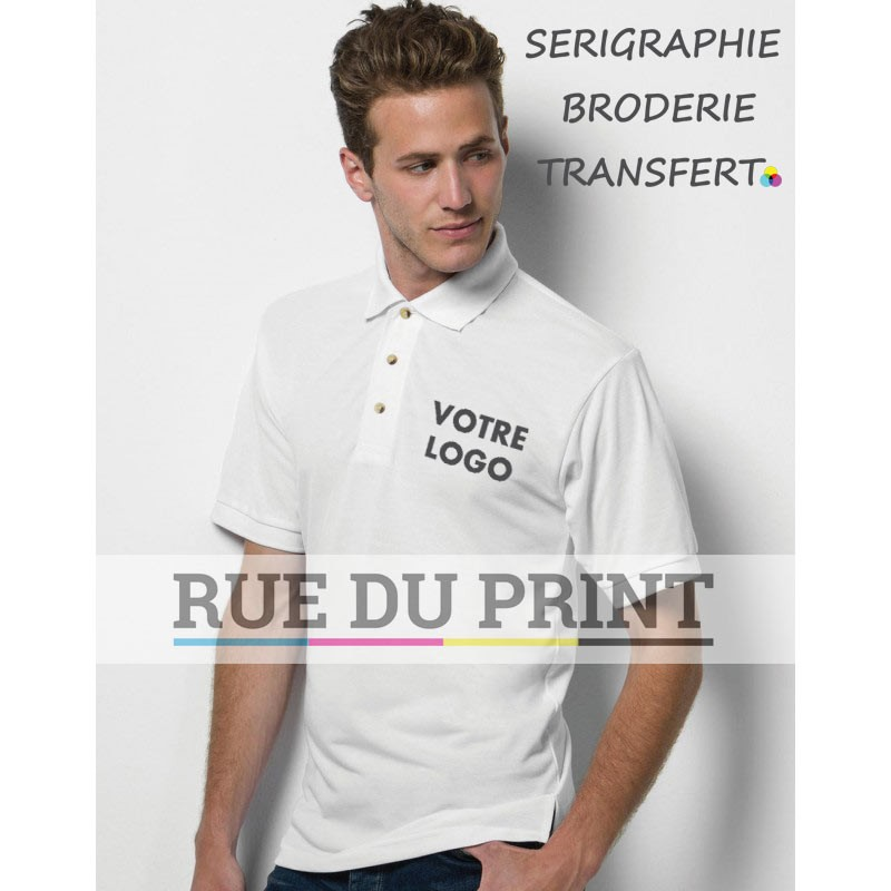 Polo publicité adulte Subli 220 g/m2 100% polyester patte de boutonnage 3 boutons corne