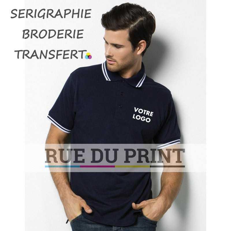 Polo publicité Collar 185 g/m² 65% polyester, 35% coton patte de boutonnage 3 boutons