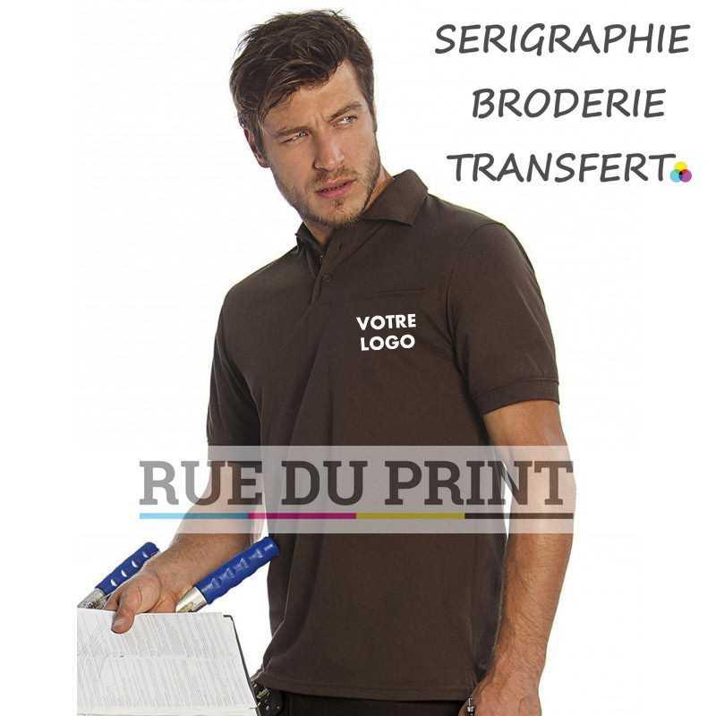 Polo publicité poche Workwear 200 g/m2 65% polyester, 35% coton peigné ringspun