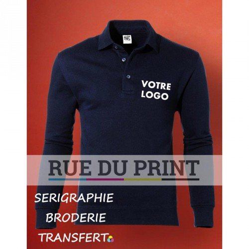 Chemise polo publicité manches set-in 280 g/m² 80% coton peigné ring-spun, 20% polyester (Light Oxford: 70% coton, 30% polyeste