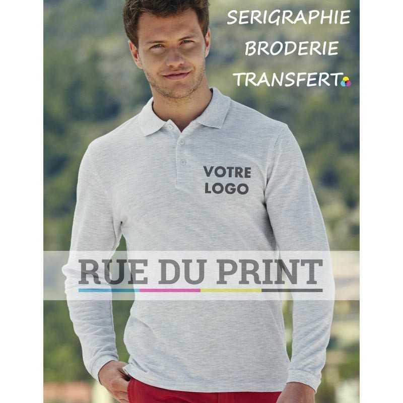 Polo publicité Premium White: 170 g/m², couleurs: 180 g/m² 100% coton (Ash: 90% coton, 10% polyester)