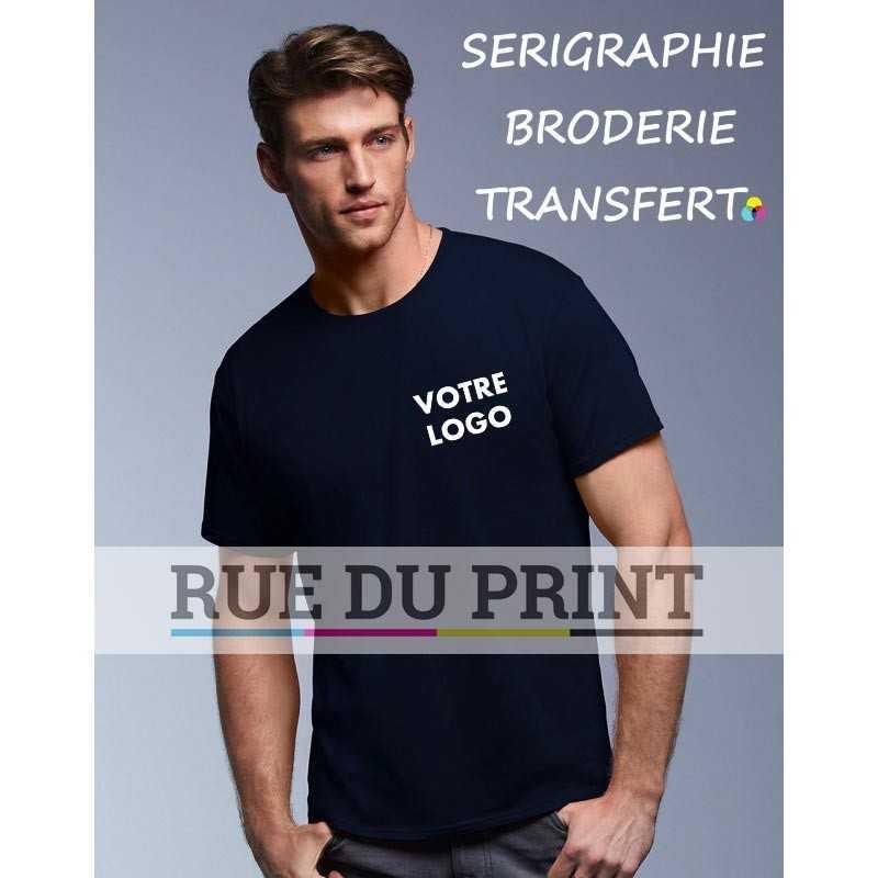 Tee-shirt publicité noir profil adulte Featherweight 100% coton, ringspun 110, g/m² prérétréci bande de propreté aux épaules e