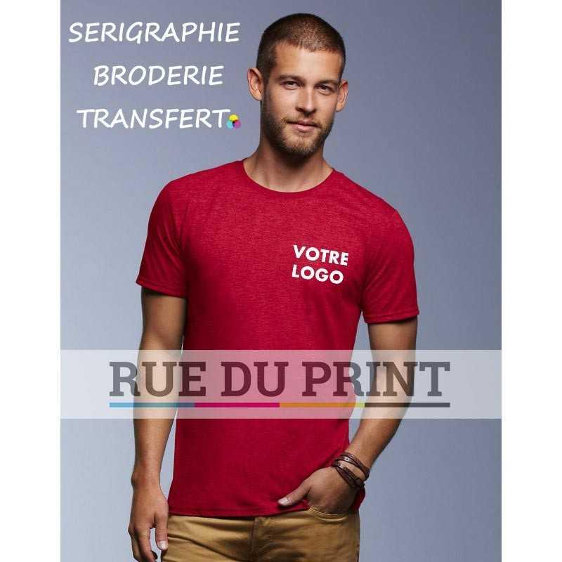 Tee-shirt magenta face adulte Tri-Blend 50% polyester, 25% coton peigné ringspun, 25% rayon, 159 g/m² bande de propreté aux épa