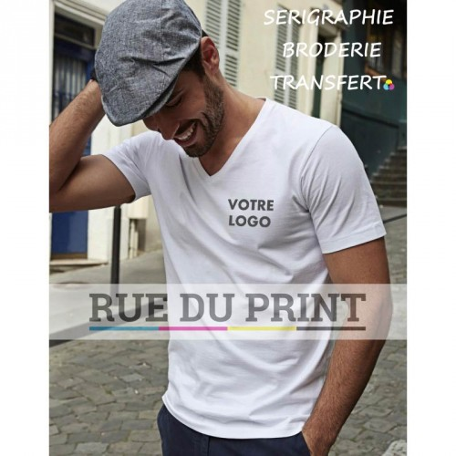 Tee-shirt homme col V Fashion