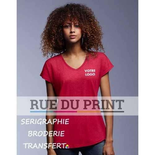 Tee-shirt femme col V Tri-Blend