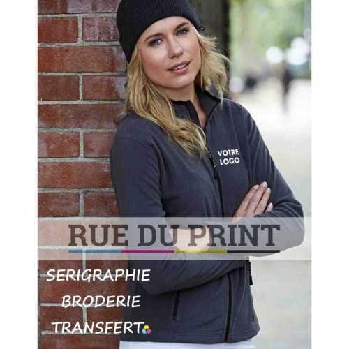 Polaire publicité femme Active 170 g/m² 100% polyester micro fleece anti-peluche