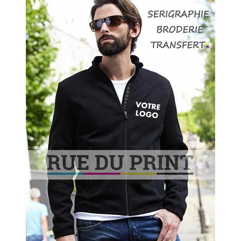 Polaire publicité Aspen Fleece 280 g/m² 100% polyester intérieur brossé fermeture à glissière