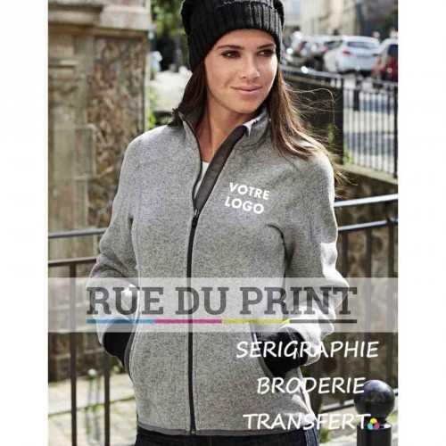 Polaire publicité femme Aspen Fleece 280 g/m² 100% polyester intérieur brossé fermeture à glissière