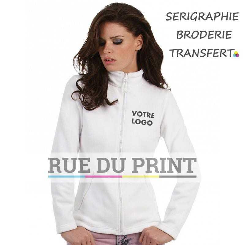 Polaire publicité femme Micro Fleece 280 g/m² 100% polyester (polaire anti-peluche) bande de propreté