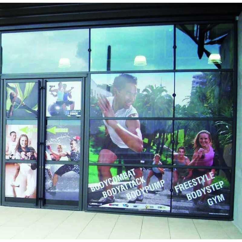 autocollants pour vitrine publicitaire
