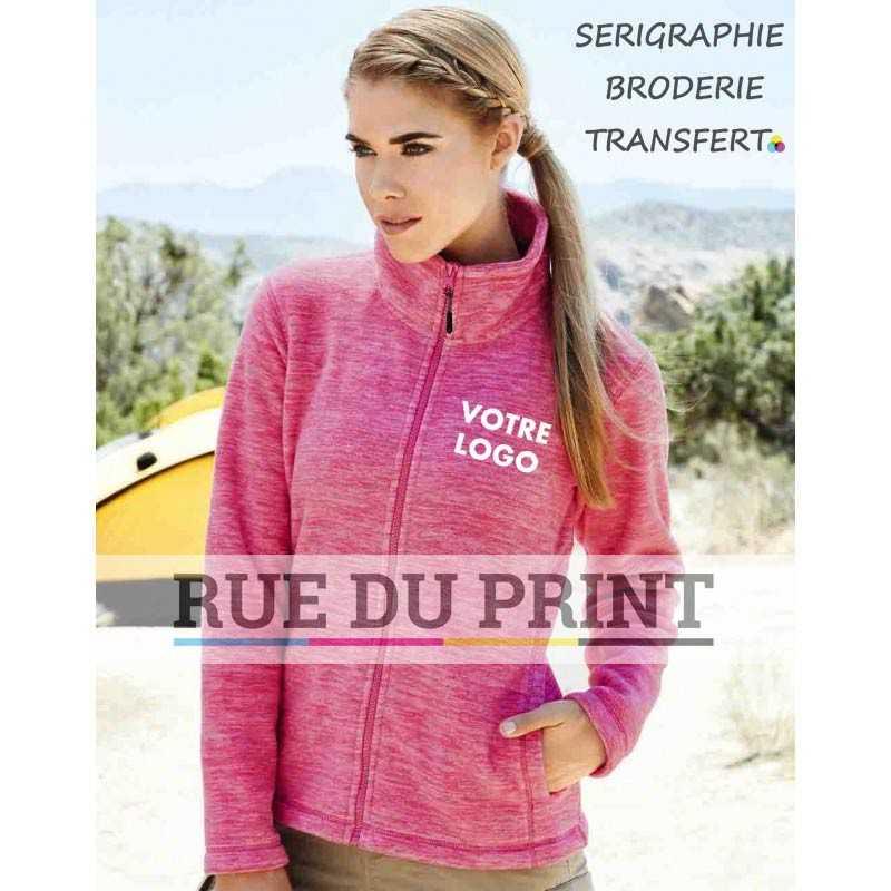 Gilet publicité polaire femme Active 310 g/m² 100% polyester (fleece mélangé) Traitement anti-boulochage