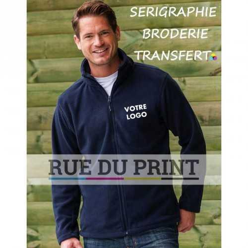 Polaire publicité homme Fleece 320 g/m2 100% polyester anti-peluche col officier