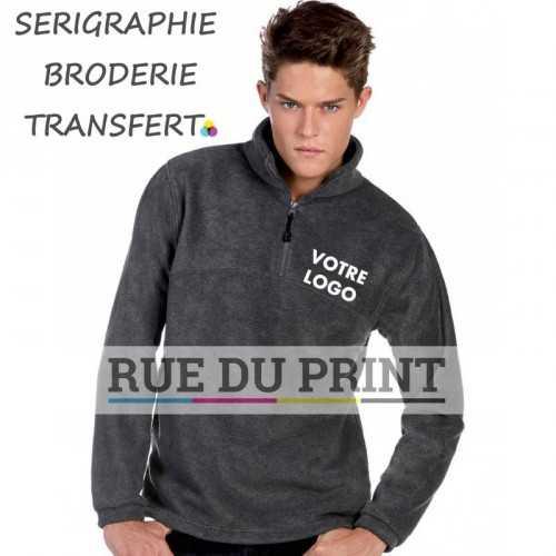 Polaire publicité 1/4 Fleece 300g/m2 100% polyester polaire en matière rasée