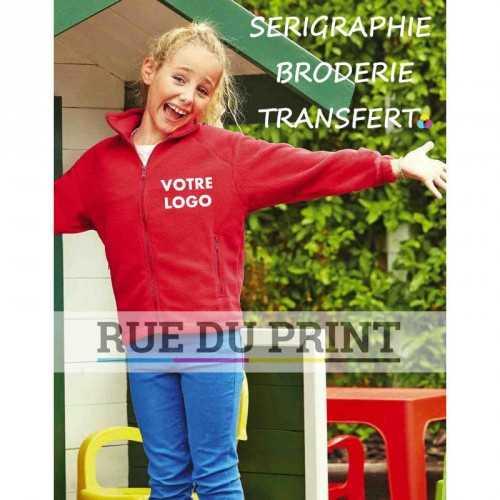 Gilet publicité enfant Fleece 300 g/m2 100% laine polaire polyester bande de propreté