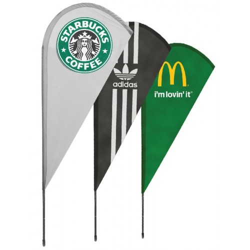 drapeaux publicitaires windflag rouge, noir, vert