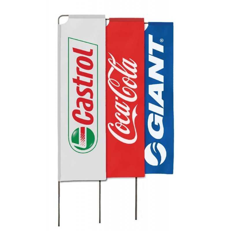 drapeaux windflags publicitaires castrol, coca cola, Giant
