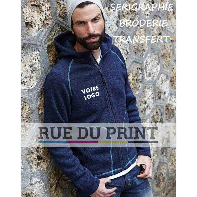 Polaire publicité à capuche Aspen 280 g/m² 100% Polyester (mélange tricoté) Brossé à l intérieur