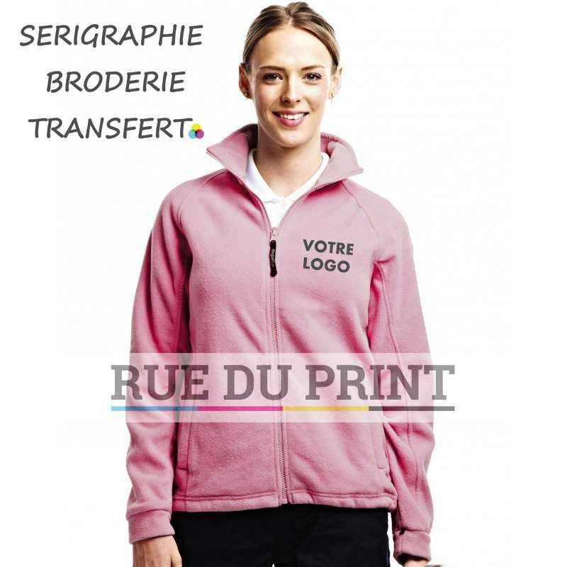 Polaire publicité femme Thor 3 Fleece 280 g/m² polaire 280 series anti-peluche Symmetry fermeture à glissière complète