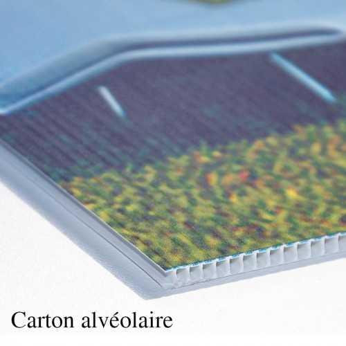 Carton personnalisable alvéolaire et plume