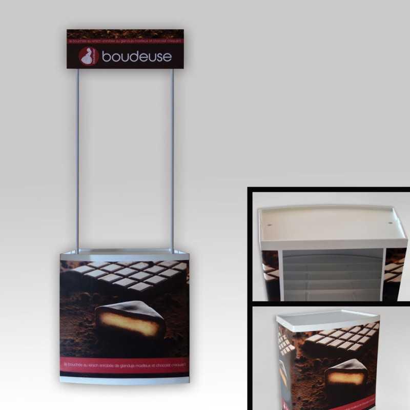 Comptoir d'accueil visuel PVC
