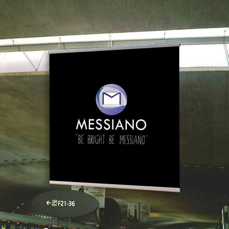 Affiche Suspendu publicitaire