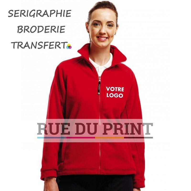 Polaire publicité femme Thor 300 300 g/m² Polaire 300 séries anti-peluche Symétrie Fermeture à glissière complète