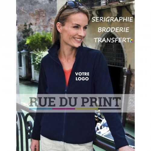 Polaire publicité femme Horizon 280 g/m2 100% polyester micro polaire col droit avec bord polyester