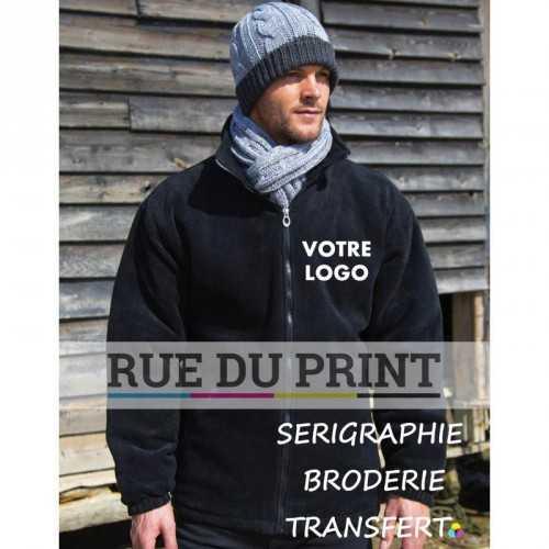 Polaire publicité Polartherm™ Ext: 280 g/m2, 100% Polyester compacté luxueux Int: 100% matelassage polyester avec rembourrage