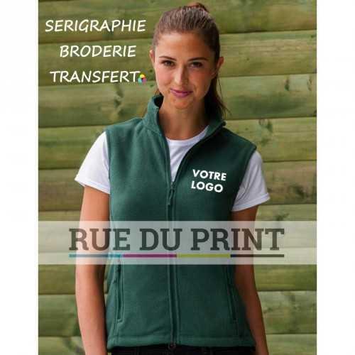 Polaire publicité femme Outdoor Fleece 320 g/m2 100% polyester anti-peluche col officier