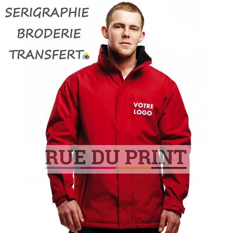 Parka publicité Bridgeport 270 g/m² rouge 100% polyester (étanche Hydrafort oxford 300D) Doublure: Col doublé polaire; 120 g/m