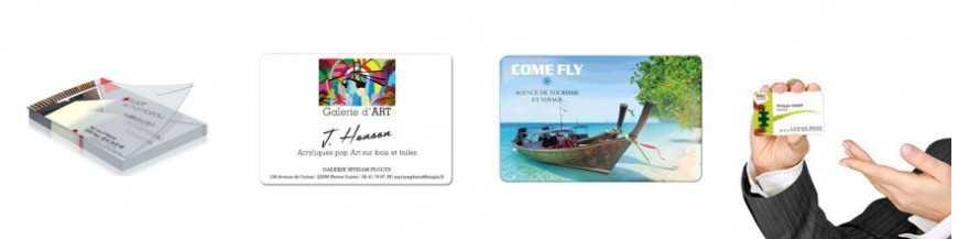 Cartes de visite et publicitaires