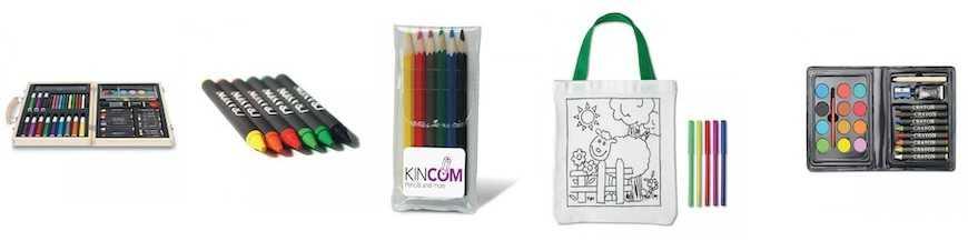 Feutres, peintures et crayons de couleurs
