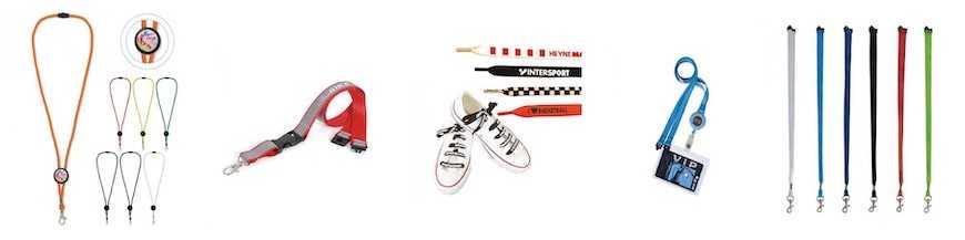Tour de cou (lanyard) et lacets personnalisés