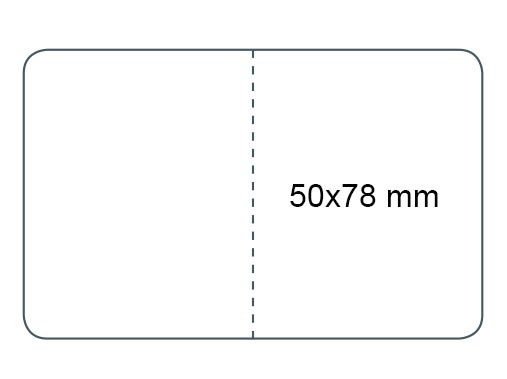 Dimension étiquettes pour fermer les sacs