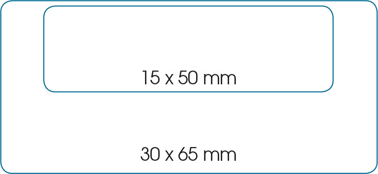 Mesures rectangles badges magnétic